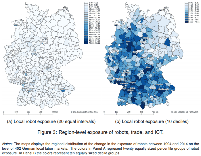 Region-level exposure of robots, trade, and ICT in Germany