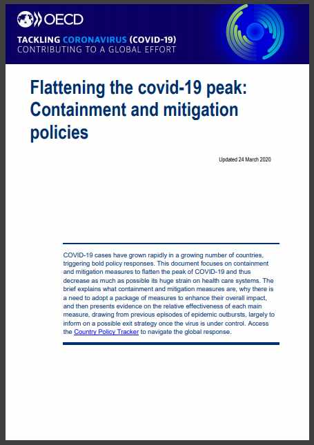 """Staying apart to stay healthy"": Read the OECD's key impacts report on Covid-19 Containment and Mitigation Policies"