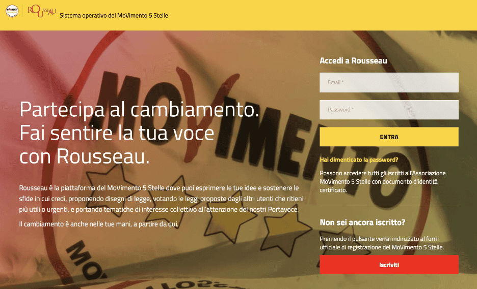 Five Star Movement Voting Portal
