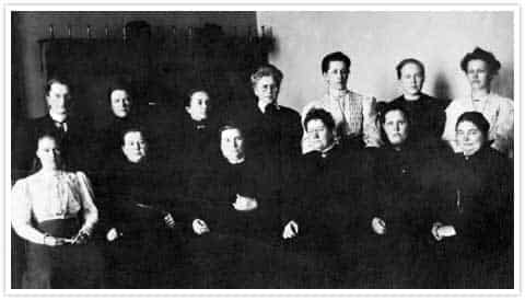 13 of the world's first female MPs, elected in Finland's parliamentary elections in 1907