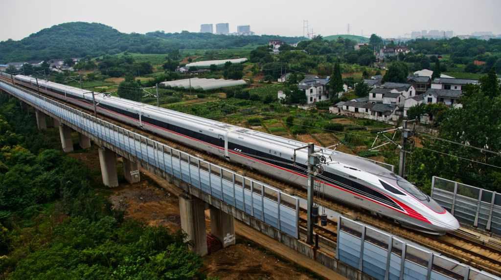 Speed between Shanghai and Beijing on China's new bullet trains