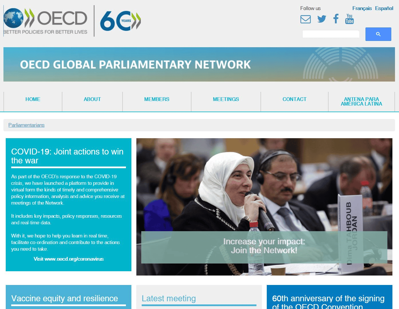 Find out more about theOECD's Global Parliamentary Network