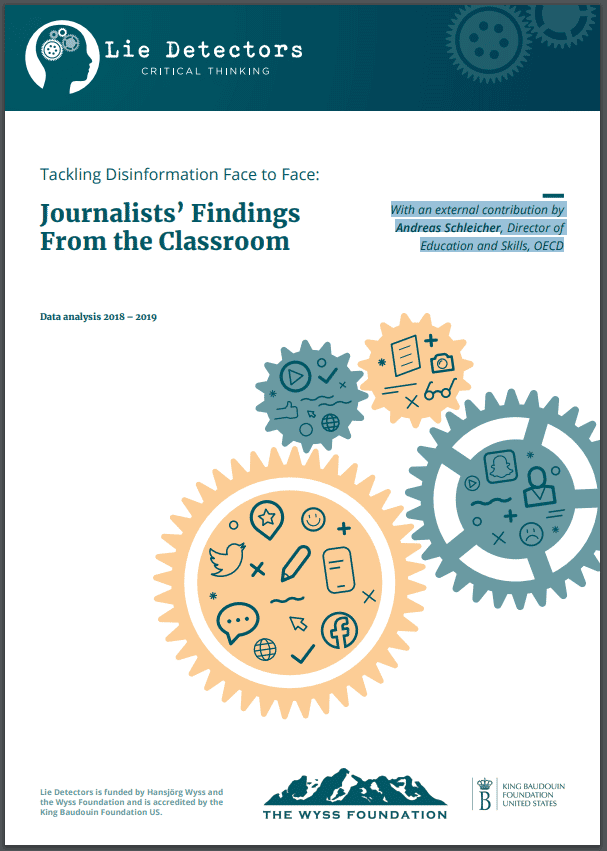 Read Lie Detector's report Tackling Disinformation Face to Face: Journalists' Findings From the Classroom, with an external contribution by Andreas Schleicher, Director of Education and Skills, OECD