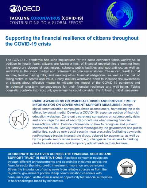 "Read the OECD's key policy response ""Supporting the financial resilience of citizens throughout the COVID-19 crisis"""