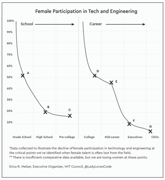 Female participation in tech