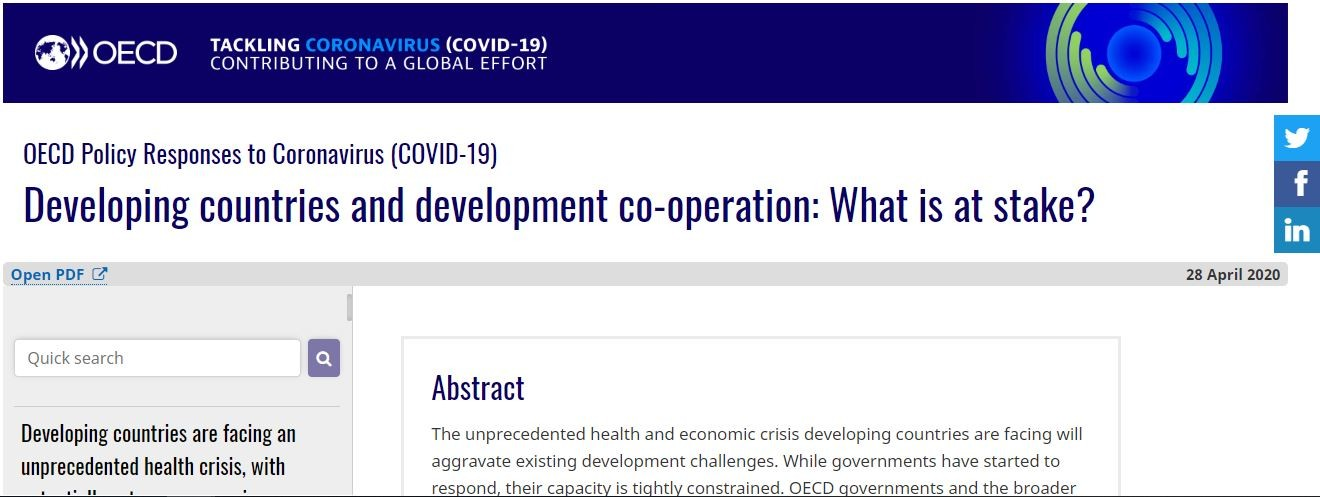 Read the OECD Policy Brief Developing countries and development co-operation: What is at stake?