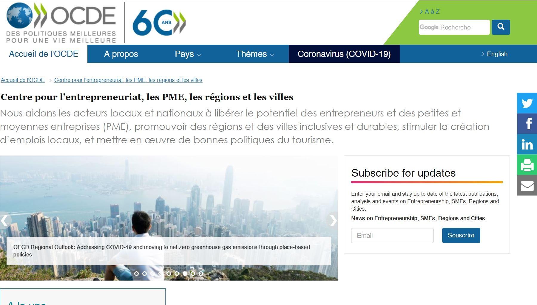 Lire plus de le Centre pour l'entrepreneuriat, les PME, les régions et les villes