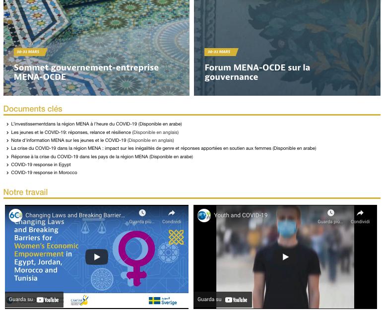 Savoir en plus sur l'initiative Conférence Ministérielle MENA-OCDE 2021 en 1 Avril 2021