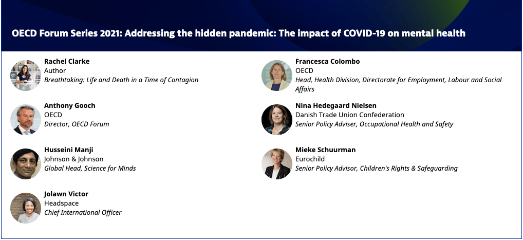 Find more about the OECD Virtual Event: Adressing the hidden pandemic: The impact of COVID on mental health, taking place on 15 April 2021
